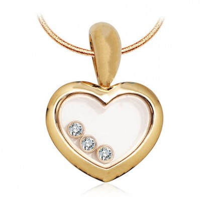 14CT GOLD DIAMOND HEART NECKLACE