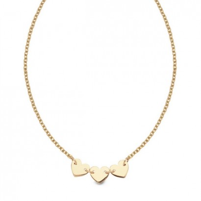 14CT GOLD HEART NECKLACE