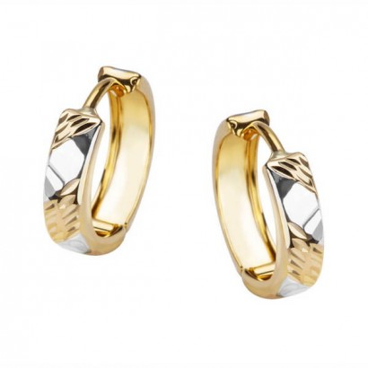 14CT GOLD HOOP EARRINGS