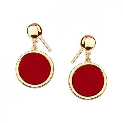 14CT GOLD CORAL EARRINGS