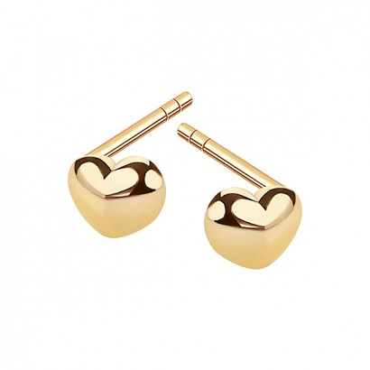 14CT GOLD HEART EARRINGS