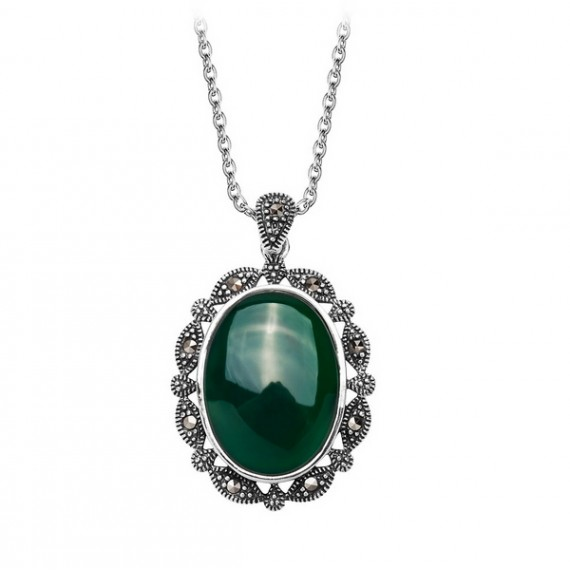SILVER AGATE NECKLACE