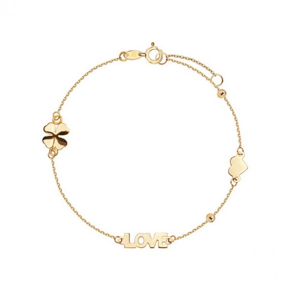 14CT GOLD LOVE BRACELET