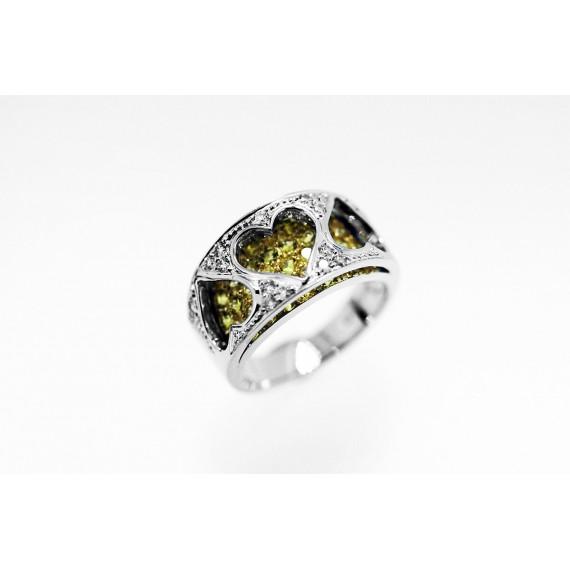 18CT WHITE GOLD DIAMOND HEART RING