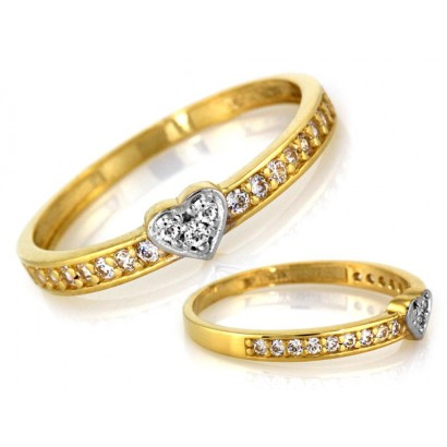 14CT GOLD HEART RING
