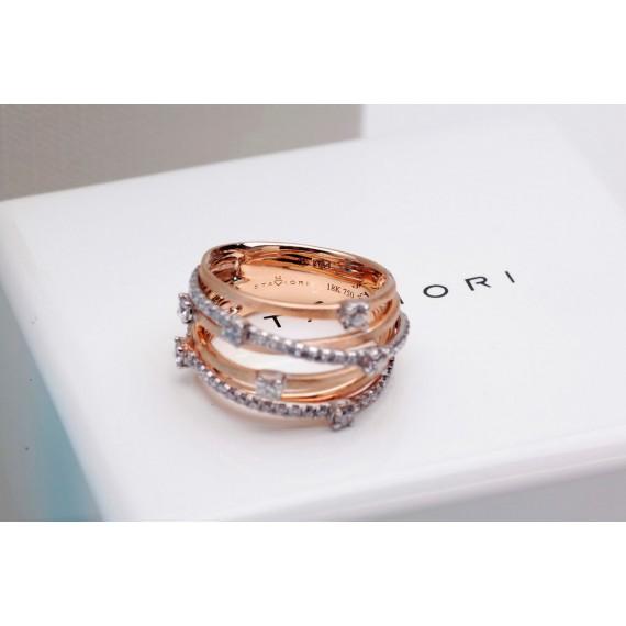 18CT ROSE GOLD DIAMOND RING