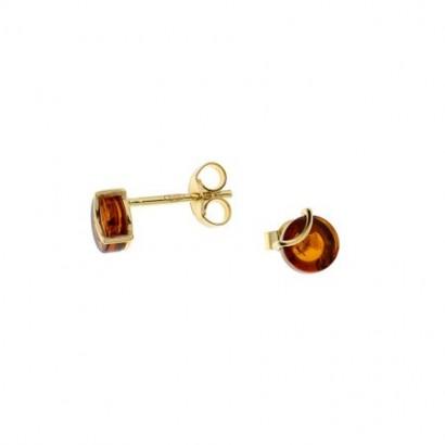 14CT GOLD AMBER EARRINGS