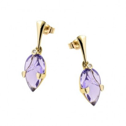 14CT GOLD AMETHYST EARRINGS