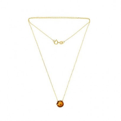 14CT GOLD AMBER NECKLACE