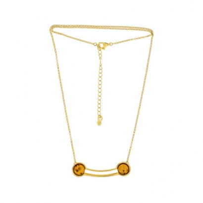 SILVER AMBER NECKLACE