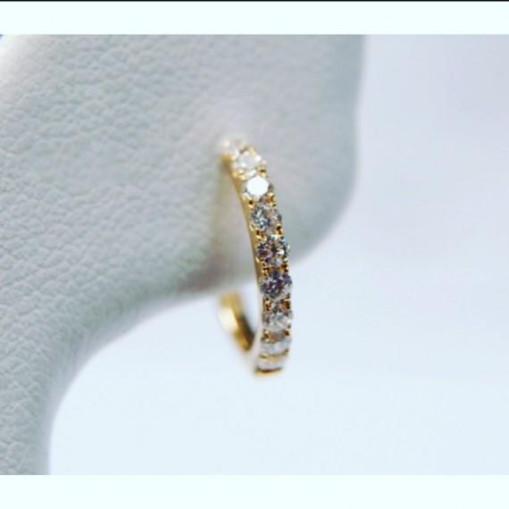 14CT GOLD DIAMOND HOOP EARRINGS