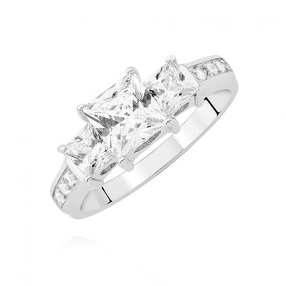 SILVER CUBIC ZIRCONIA RING