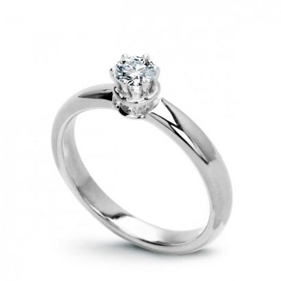 18CT WHITE GOLD DIAMOND ENGAGEMENT RING 0.25CT.