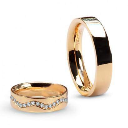 14CT YELLOW GOLD DIAMOND WEDDING RING