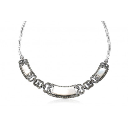 SILVER MOTHER OF PEARL NECKLACE