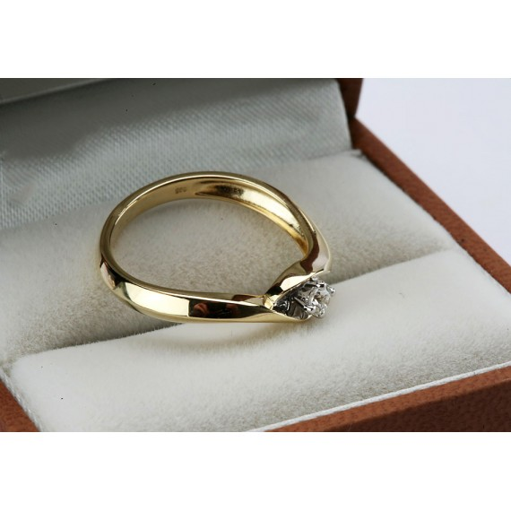 14CT GOLD DIAMOND RING