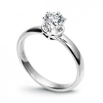 18CT WHITE GOLD DIAMOND ENGAGEMENT RING 0.50CT.