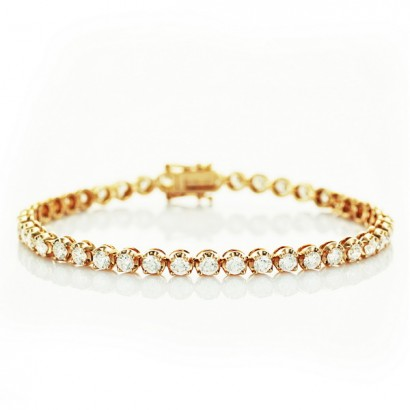 18CT GOLD DIAMOND TENNIS BRACELET