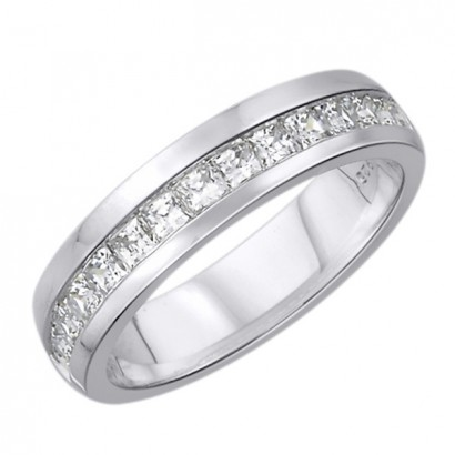 14CT WHITE GOLD DIAMOND WEDDING BAND