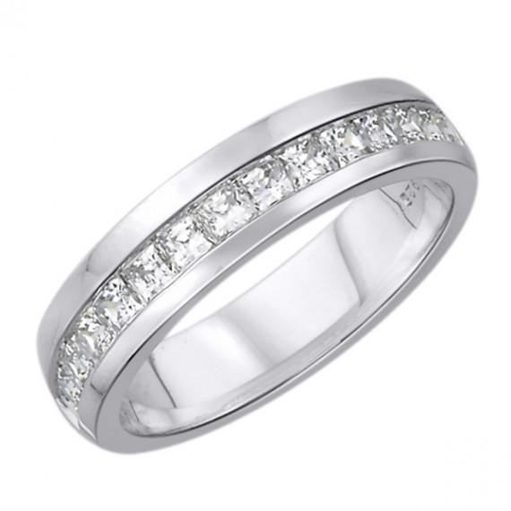 14CT WHITE GOLD DIAMOND WEDDING BAND