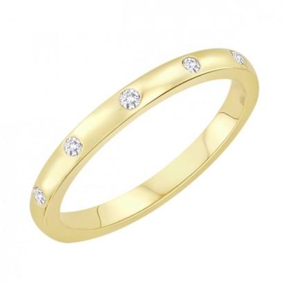 14CT YELLOW GOLD DIAMOND BAND