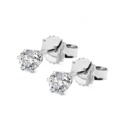 14CT WHITE GOLD DIAMOND EARRINGS