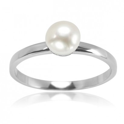 SILVER PEARL DRESS RING