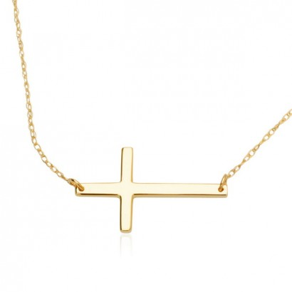 14CT GOLD CROSS NECKLACE