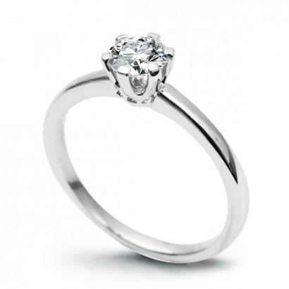 18CT WHITE GOLD DIAMOND ENGAGEMENT RING 0.50CT