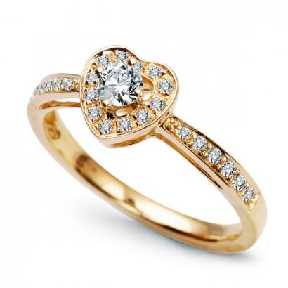 18CT GOLD DIAMOND HEART RING