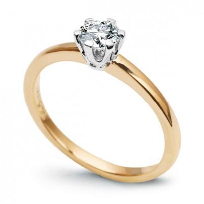 18CT GOLD DIAMOND ENGAGEMENT RING 0.50CT