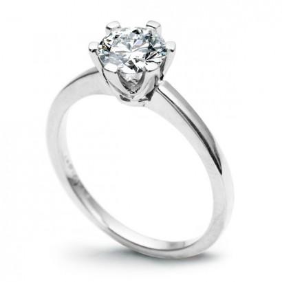 18CT WHITE GOLD DIAMOND ENGAGEMENT RING 1.00CT