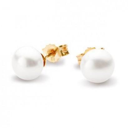 14CT GOLD PEARL EARRINGS