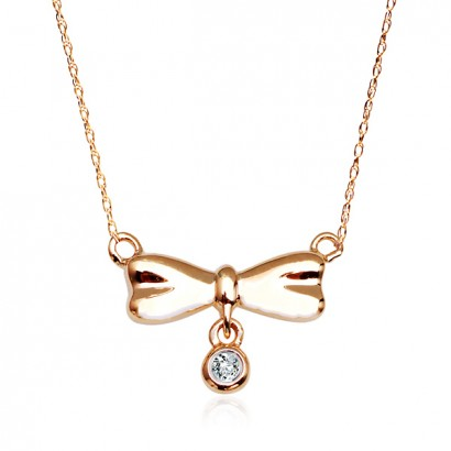 14CT GOLD DIAMOND NECKLACE