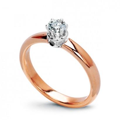 14CT ROSE GOLD DIAMOND ENGAGEMENT RING 0.28CT
