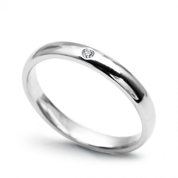14CT WHITE GOLD DIAMOND BAND