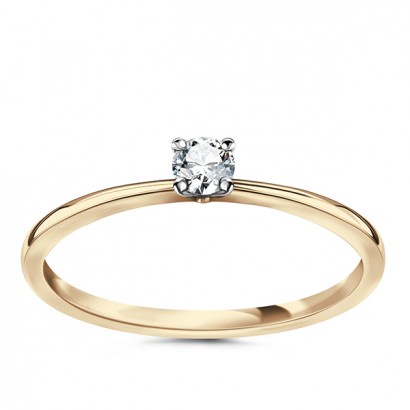 14CT GOLD DIAMOND ENGAGEMENT RING