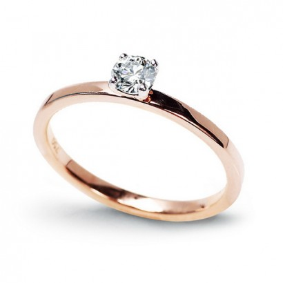 14CT ROSE GOLD DIAMOND ENGAGEMENT RING