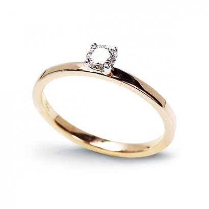 14CT YELLOW GOLD DIAMOND RING