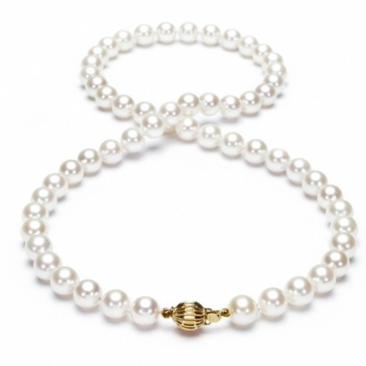 14CT GOLD NATURAL SEA PEARL NECKLACE