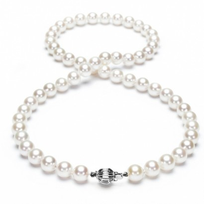 14CT WHITE GOLD NATURAL SEA PEARL NECKLACE