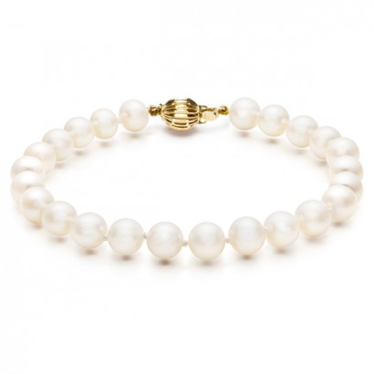 14CT GOLD NATURAL SEA PEARL BRACELET