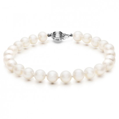 14CT WHITE GOLD NATURAL SEA PEARL BRACELET