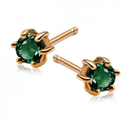 14CT GOLD EMERALD EARRINGS