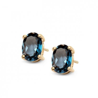 14CT GOLD BLUE TOPAZ EARRINGS