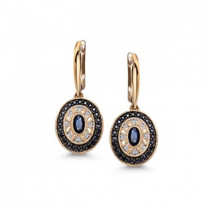 14CT GOLD SAPPHIRE EARRINGS