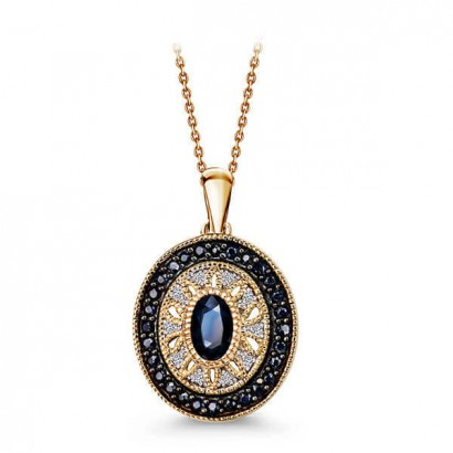 14CT GOLD SAPPHIRE NECKLACE