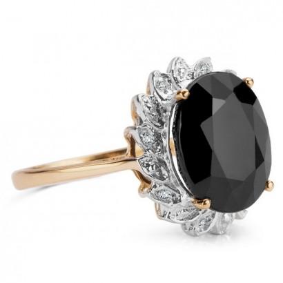 14CT GOLD SAPPHIRE & DIAMOND RING