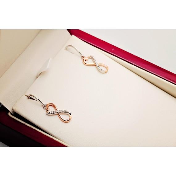 14CT ROSE GOLD DIAMOND EARRINGS