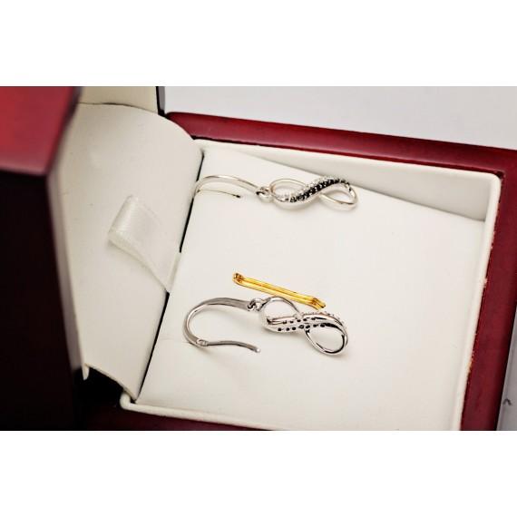 14CT WHITE GOLD BLACK DIAMOND EARRINGS
